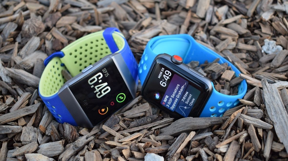 Apple Watch v fitbit ionic