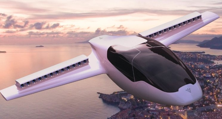 Lilium GmbH flying jet taxis.