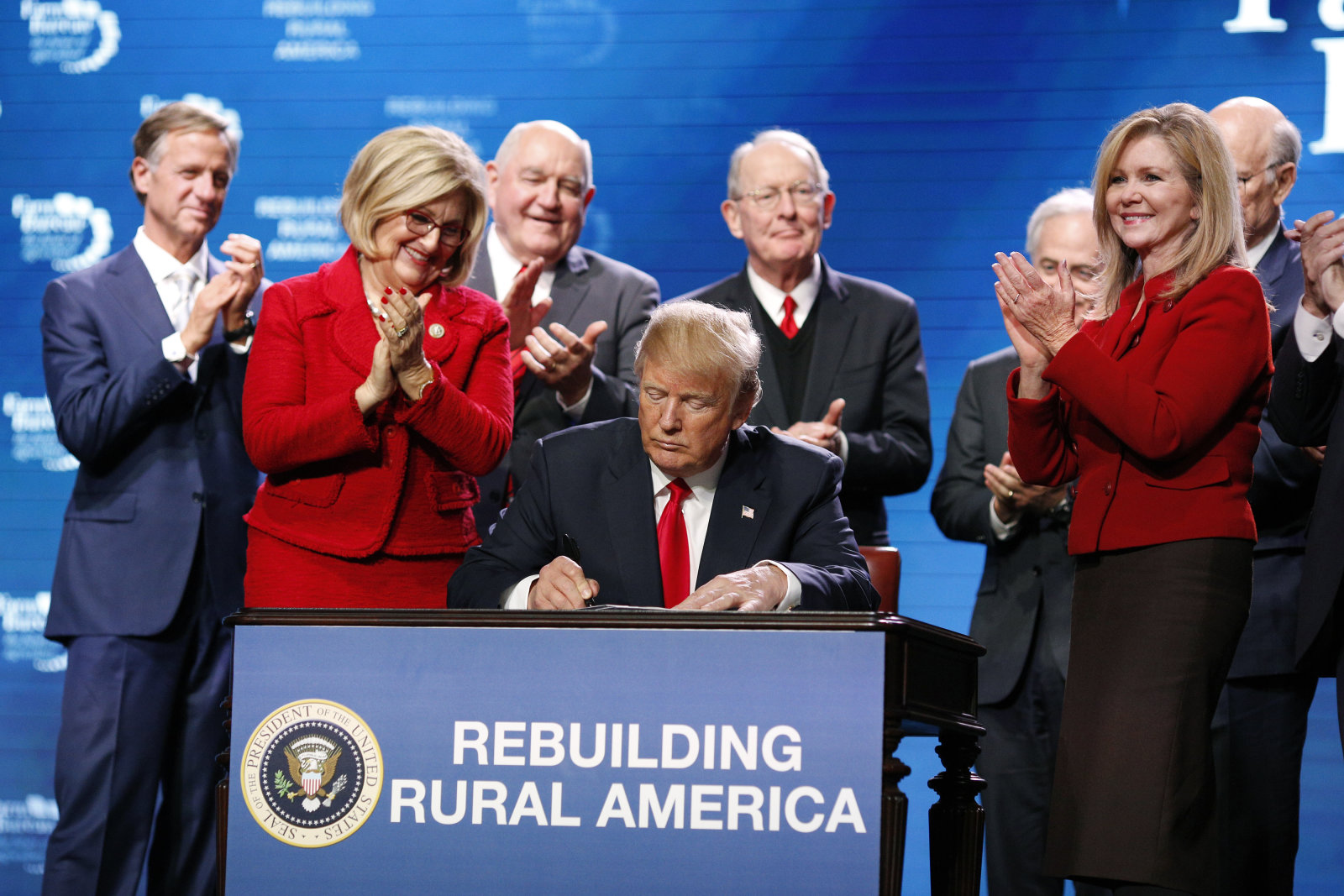 President Trump Speaks At The Annual American Farm Bureau Federation Conference