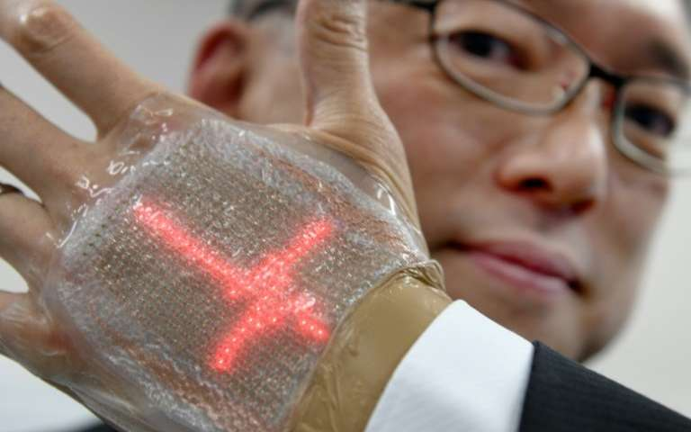 Japanese team builds skin message display