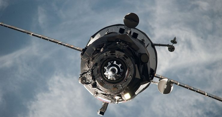 Russian resupply ship docks with space station